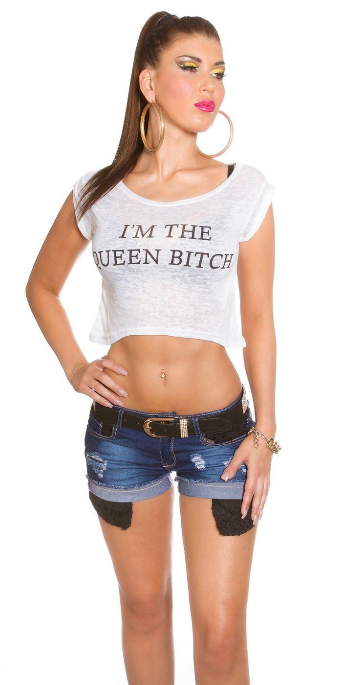Crop Shirt - Queen Bitch