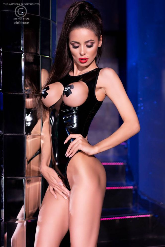 Body - skinnende wetlook/latex look (CR-4303)