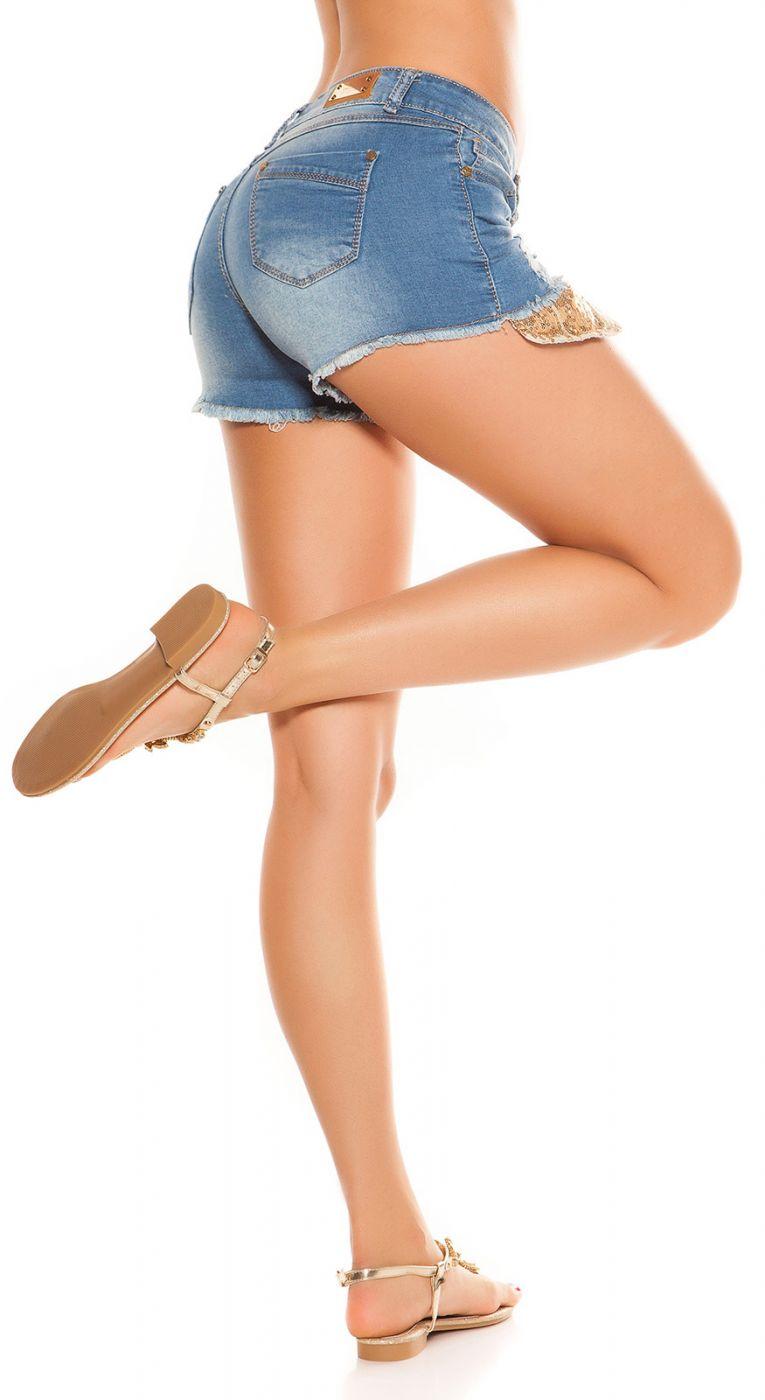 Jeans Hotpants - pailletter