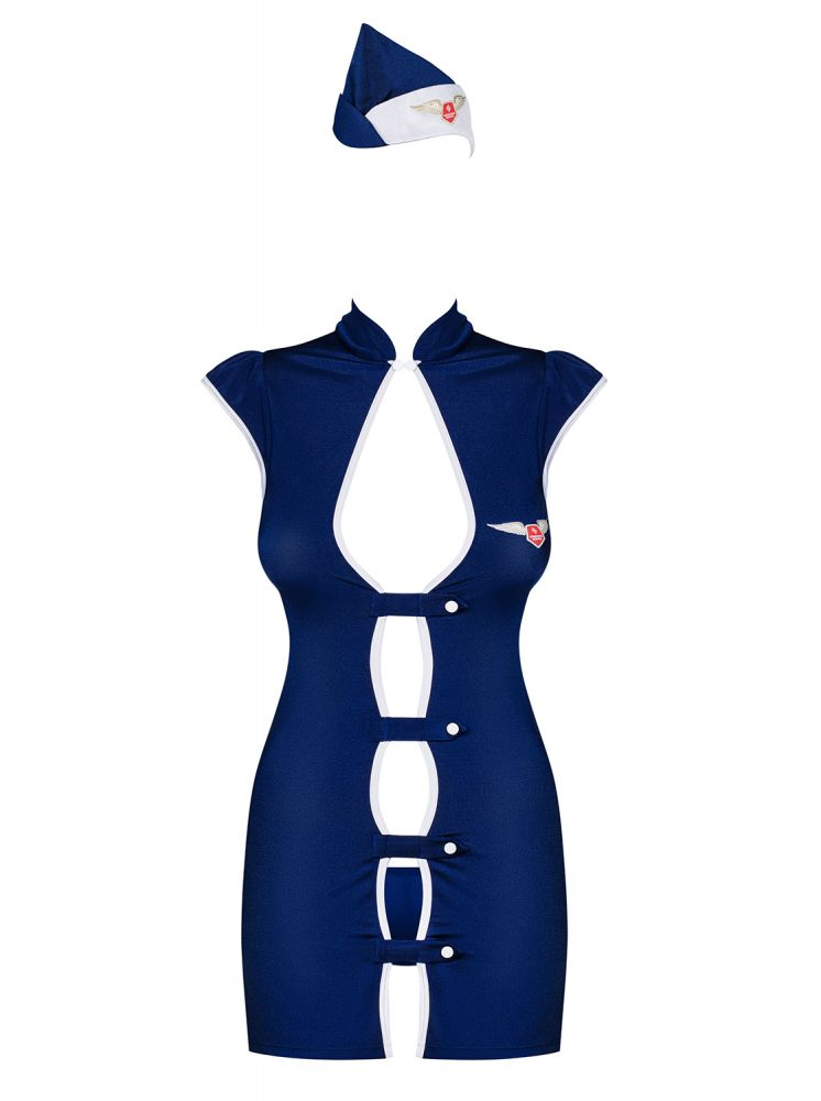 Stewardesse kostume sæt - blåt