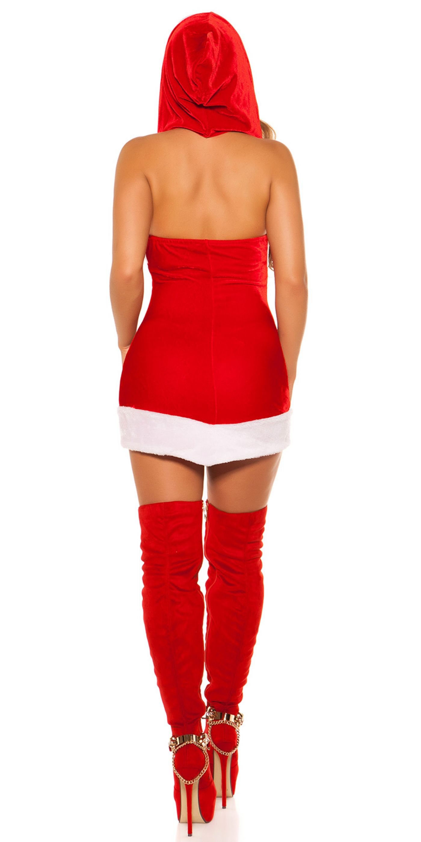 Julepige - Neck Minikjole / Hoodie