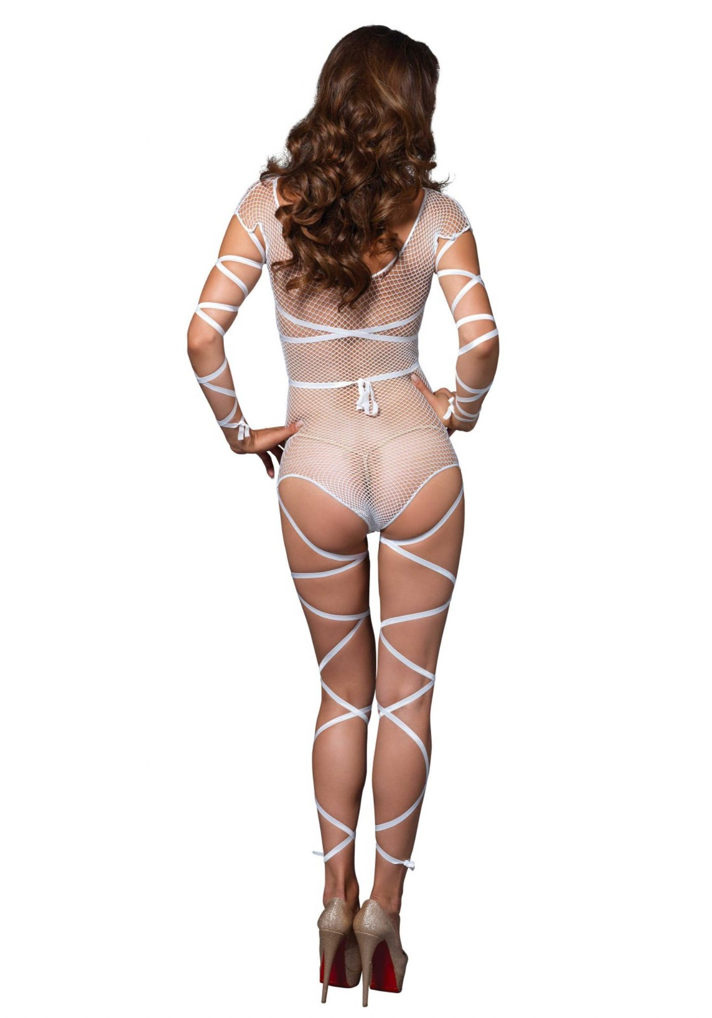 Fishnet Teddy - med wraps (LA89174)