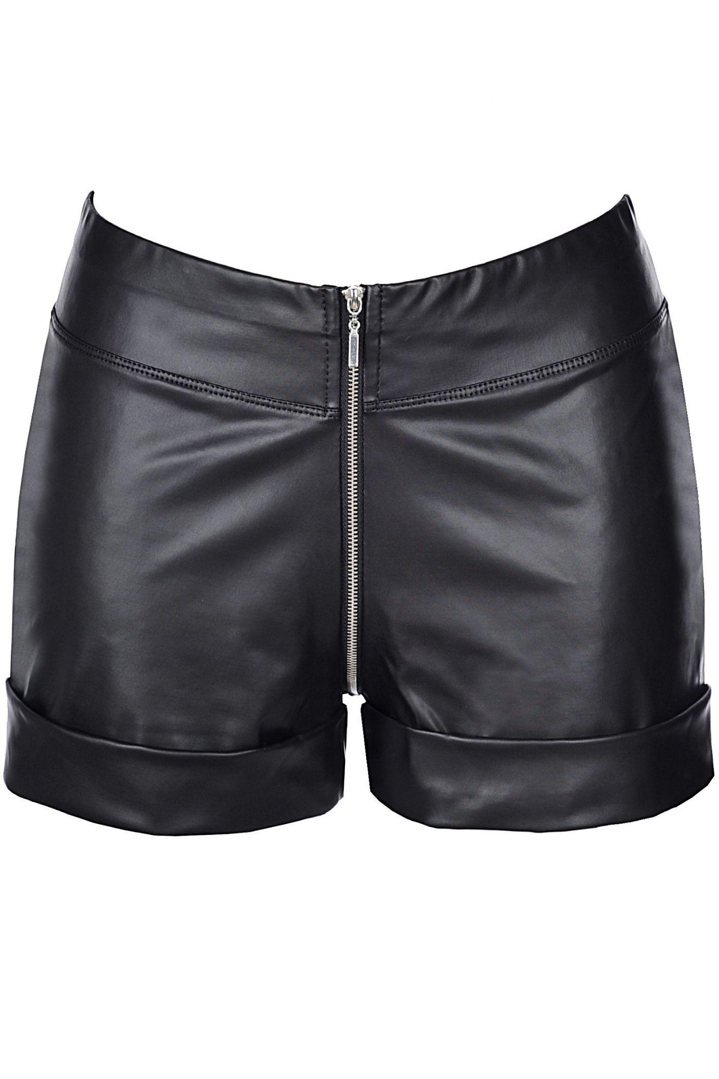 Shorts - Wetlook med lynlås (V-9153)