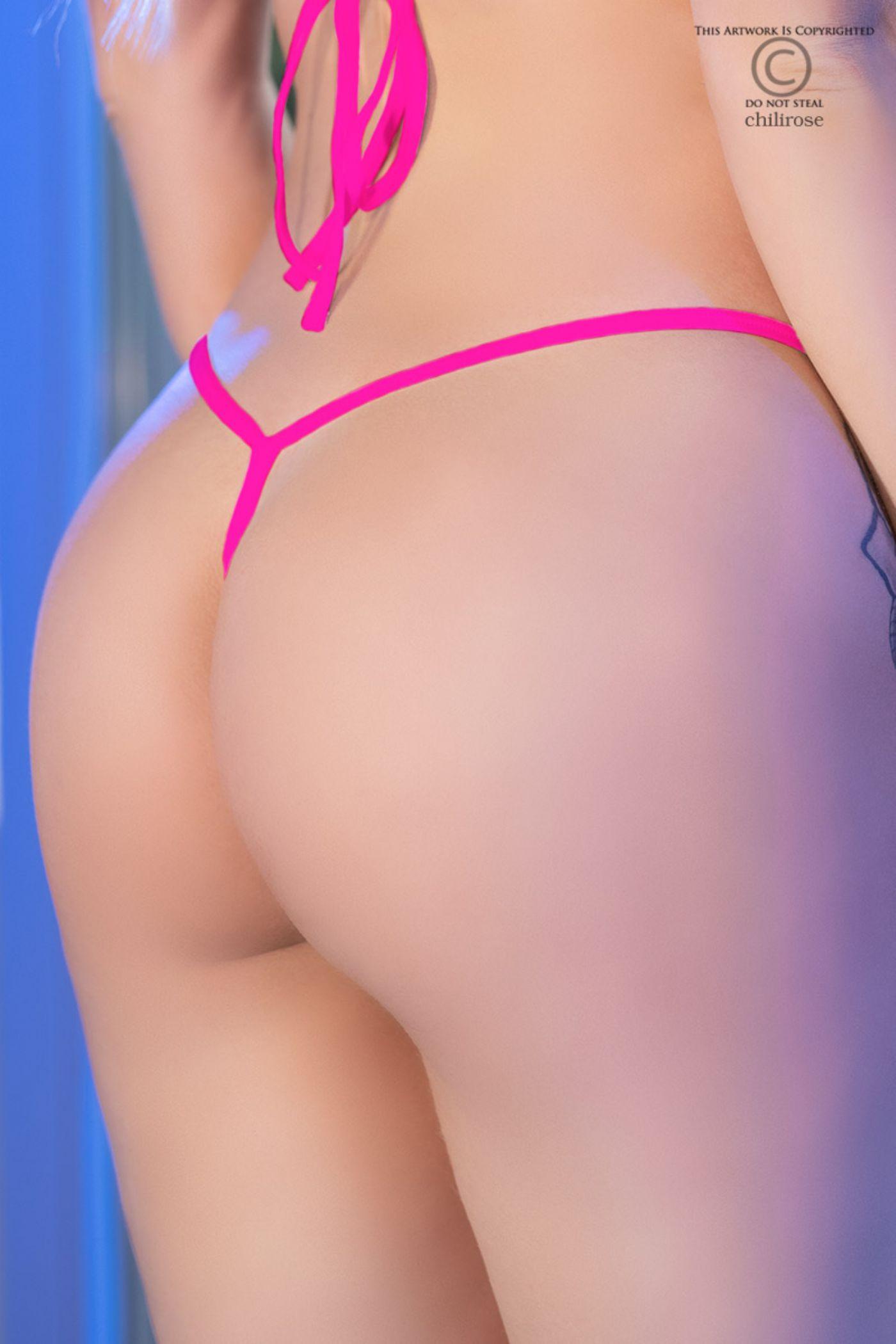 Mini Thong Y-bag - Hot pink (CR-4382)