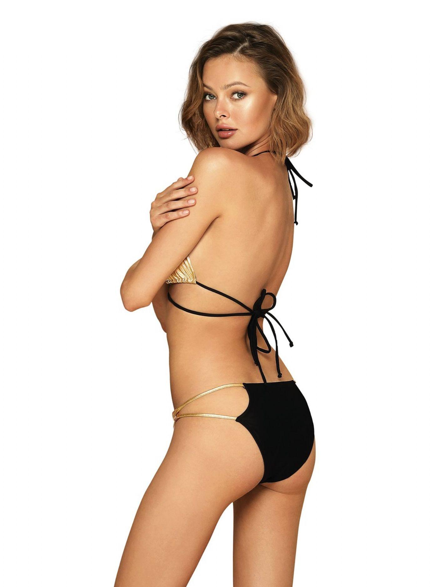 Goldivia - Guld/sort Bikini sæt
