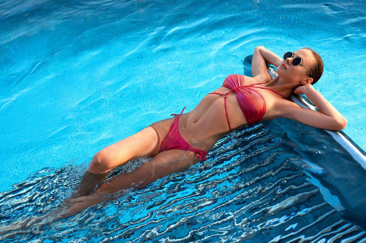 Coralya - Shiny Bikini sæt - Rød