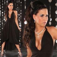 Lange kjoler - Neck-dress (sort)