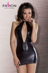 Club Wear - Femi Wetlook Mini-Dress