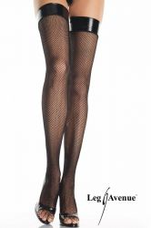 Leg Avenue - Fishnet Stockings - Vinyl Top (LA8291)
