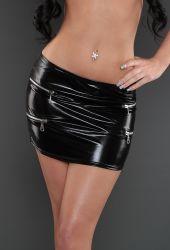 Nederdele & Shorts - Miniskirt - lynlåse i siderne - Wetlook