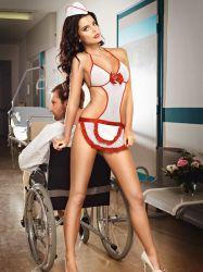 Sygeplejerskekostume - Fræk Sygeplejerske (#1234)
