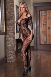 Provocative - Sort Bodystocking (PR4162)