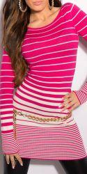 Bluser / T-shirts - Lang Sweater - med lynlås