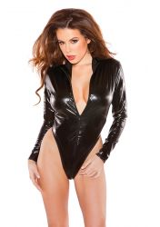 Allure Lingerie - Kitten Wetlook Bodysuit - med lynlås