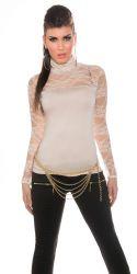 Bluser / T-shirts - Bluse - med blonder