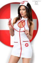 Kostumer - Sygeplejerske - Sygeplejerske kostume sæt (5 dele) (CR-3854)