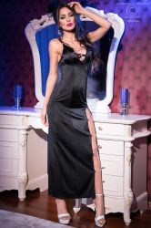 Lange kjoler - Lang Kjole - sideslids (CR-4164)