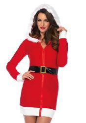 Kostumer - Julepiger / Nissepiger - Cozy Santa - Julepige kjole (LA86613)