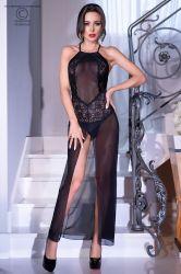 Lingeri kjoler - Lang kjole - masker/blonder - inkl. thong (CR-4269)