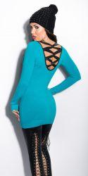 Bluser / T-shirts - Lang Sweater - Bånd bagpå