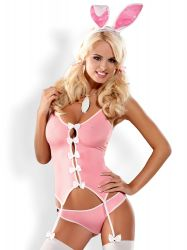Sexede Kostumer - diverse - Pink Bunny kostume sæt