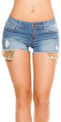 Nederdele & Shorts - Jeans Hotpants - pailletter