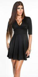 Korte kjoler - Caroline Minikjole - korte ærmer (sort)