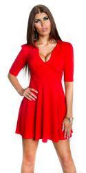 Korte kjoler - Caroline Minikjole - korte ærmer (rød)