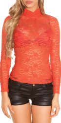 Bluser / T-shirts - Blonde Bluse - Turtleneck (orange)