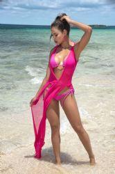 Beachwear - Lang Strandkjole - Neon Pink (MAP7910)