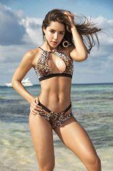 Bikini & Badetøj - Bikini - Udskæring top - Leopard (MAP6540)