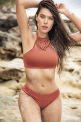 Bikini & Badetøj - Bikini - Halter Top - Macrame (MAP6550)