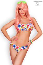 Bikini & Badetøj - Bikini - Blomster/Striber (CR-3660)