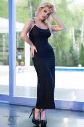 Lange kjoler - Lang Kjole - Sort (CR-4379)
