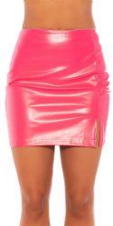 Nederdele & Shorts - Læderlook Nederdel - Pink