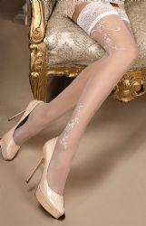 Ballerina - Studio Collants - Selvsiddende Strømper - hvide (BA-256)