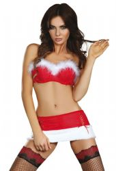 Kostumer - Julepiger / Nissepiger - Santas Bodydolly - Julepige BH & Skirt