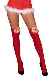 - Cilla - Julepige Selvsiddende Strømper