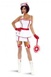 Sygeplejerskekostume - Sygeplejerske kostume - Nurse (7 dele)