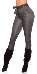 Pants / Jeans - Bukser med bælte - mørk farve