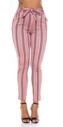 Leggings - Højtalje Bukser - med bælte (Gammel Rosa)