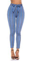 Leggings - Højtalje Bukser - med bælte (Blå)