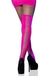 - Selvsiddende Strømper - Neon Pink (CR-4398)