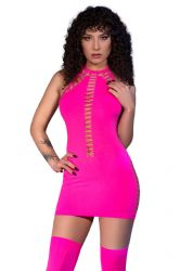 - Minikjole - Neon pink - 4D look (CR-4397)