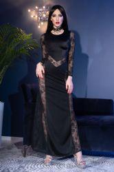 Lange kjoler - Lang Cocktail Kjole (CR-4408)