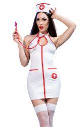 Sygeplejerskekostume - Sygeplejeske Kostume Sæt (CR-4430)