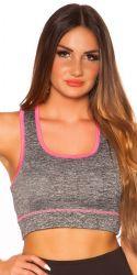 Sport / Fitness - Trænings Crop Top - pink