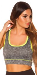 Sport / Fitness - Trænings Crop Top - neongul
