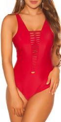Bikini & Badetøj - Badedragt - udskæringer (rød)